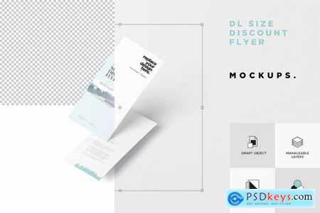 DL Size Discount Flyer Mock-ups