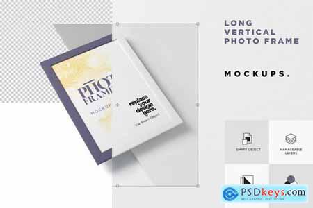 Long Vertical Photo Frame Mock Ups