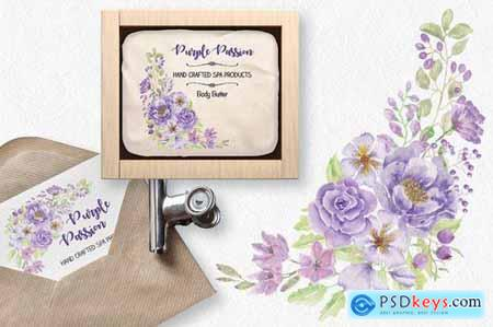 Purple Passion Watercolor Sprays