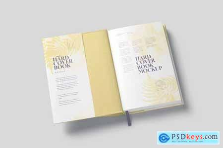 Small Hardcover Book With Dust Jacket Mockups