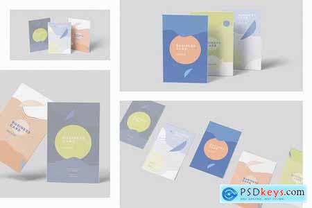 Vertical Business Card Mock-ups