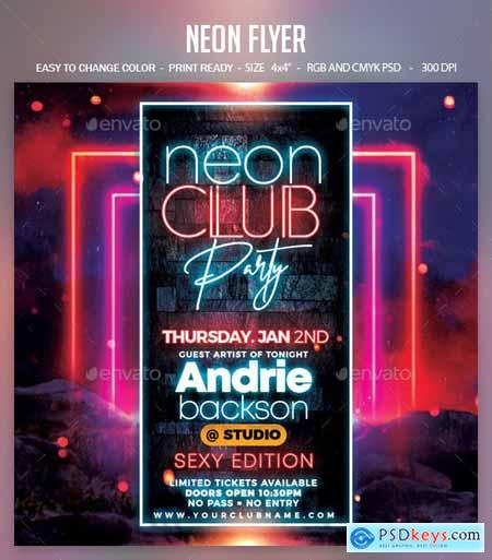 Neon Flyer 25324596
