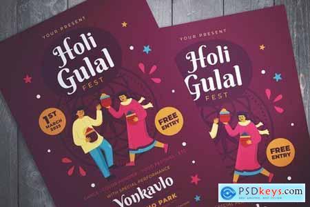 Holi Gulal Fest Flyer