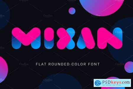 Mixan bold color font 4520030