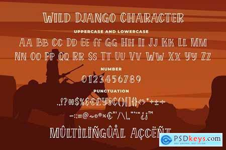 Wild Django - Bouncy Outline Serif