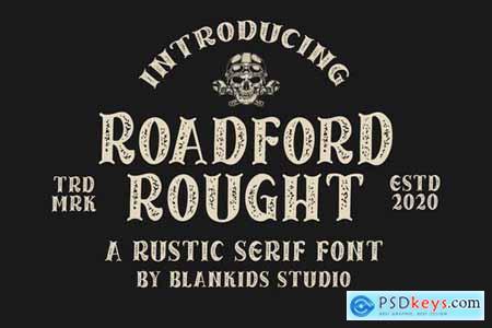 Roadford Rought - Rustic Serif Font