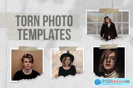 Torn Photo Templates