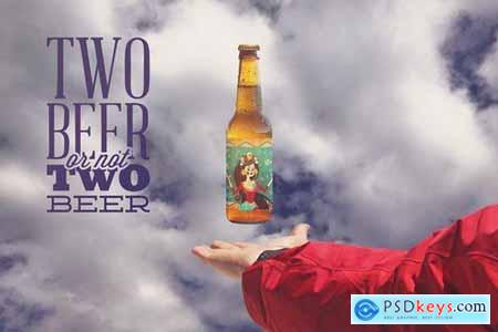 Levitating Beer Mockup