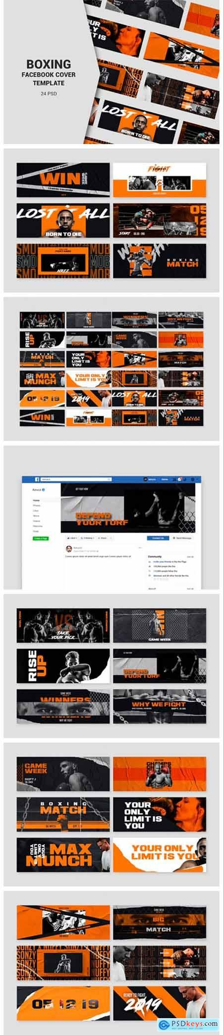 Boxing Facebook Cover Templates 2661861