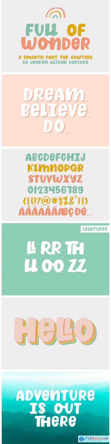 Full of Wonder Font