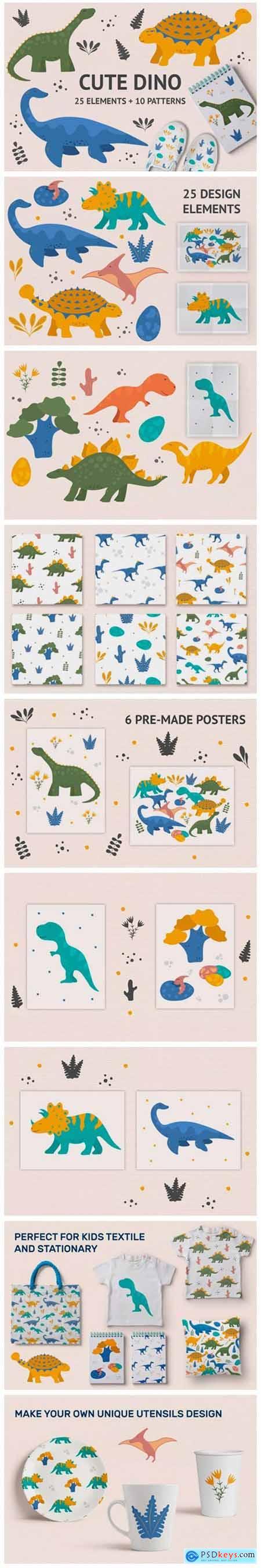 Cute Dino Illustrations 2661942
