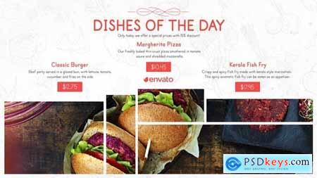 Videohive Restaurant Menu Food Promo 25633995