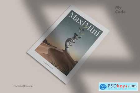 Minimalist Magazine Mockup 4509513
