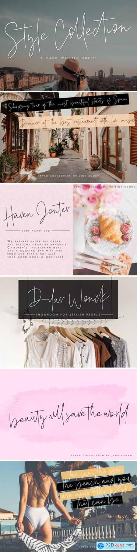 Style Collection Font