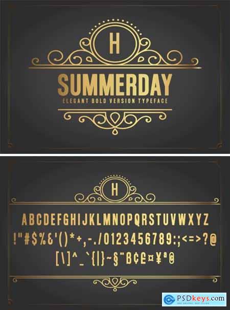 Summerday Bold Font