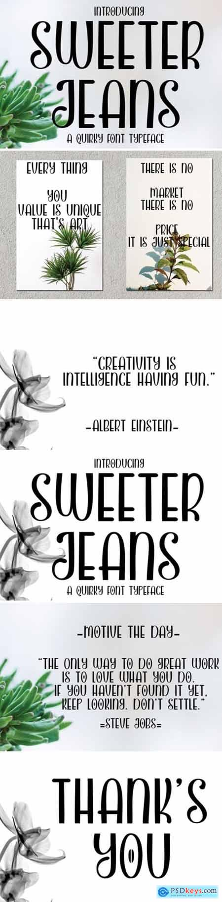 Sweeter Jeans Font