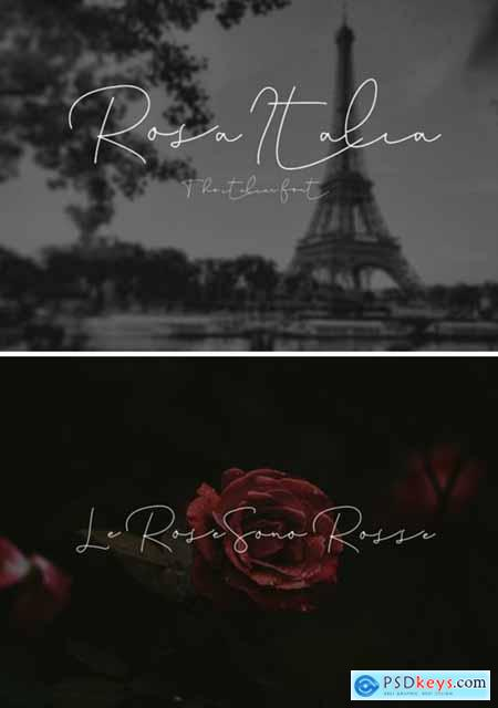 Rosa Italia Font