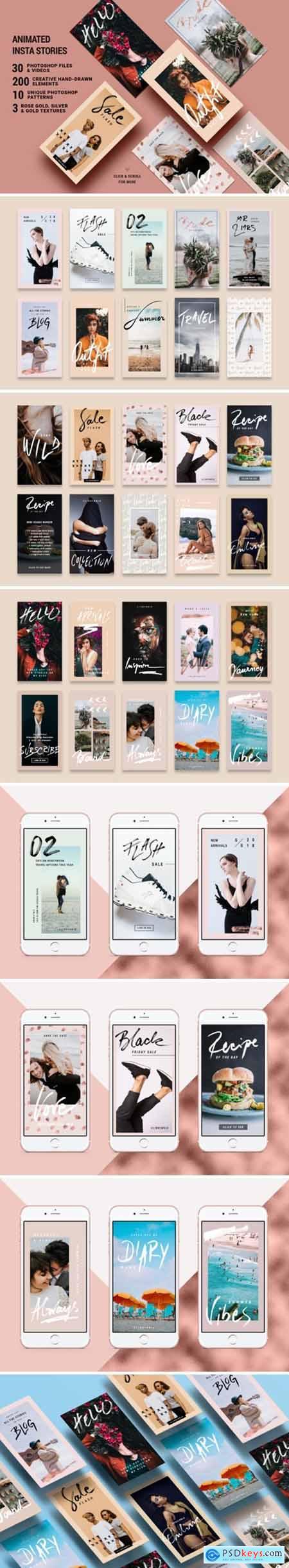 Rose Gold Instagram Stories Pack 2656783