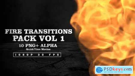 Videohive Fire Transitions Pack Vol 1 10017370