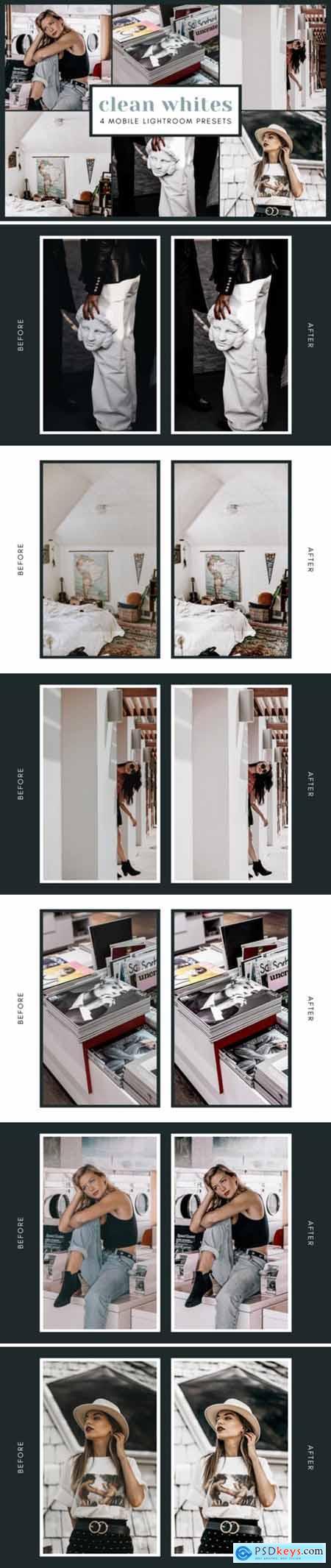 4 Mobile Lightroom Presets - Clean White 2651993