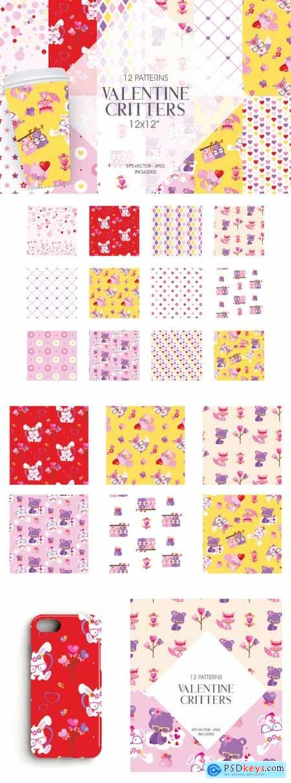 Valentine Critters Digital Paper 2643223