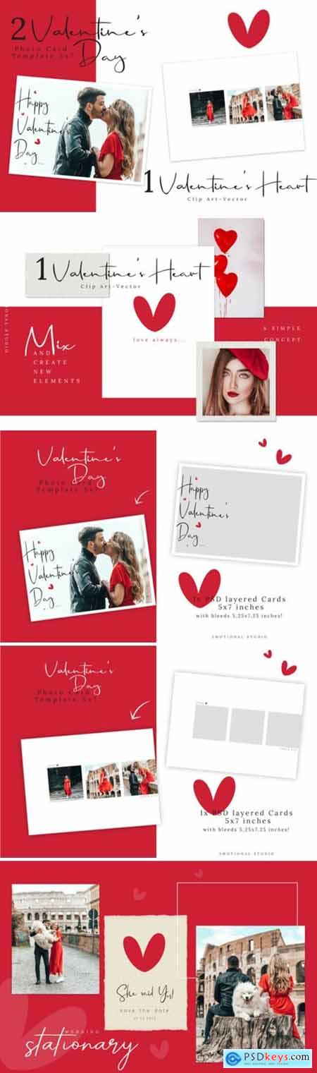 Valentines Day Photo Card Template 2652806