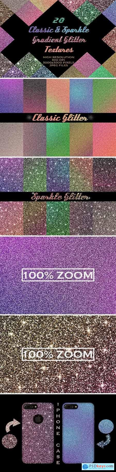 20 Classic&Sparkle Gradient Glitters 2645074