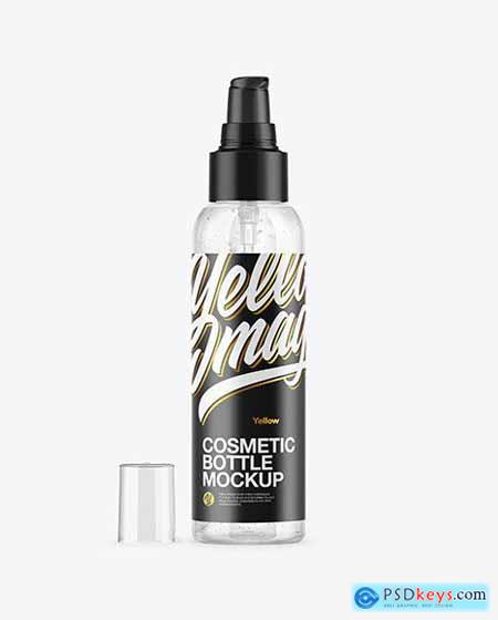 Clear Cosmetic Bottle with Gel Mockup 54649