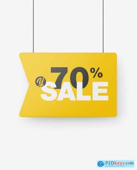 Matte Discount Sign Mockup 55127