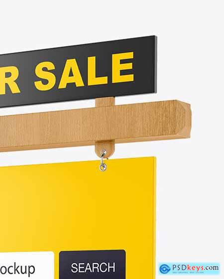 Wooden Real Estate Sign Mockup 55169