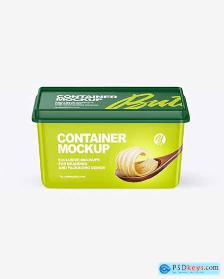 Matte Plastic Container Mockup 55141