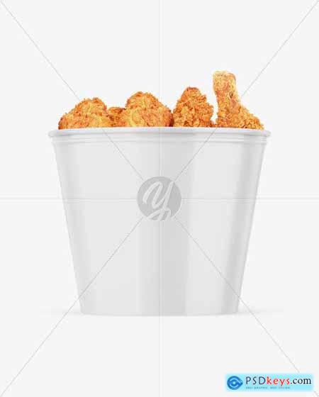 Glossy Bucket With Chicken Mockup 55177