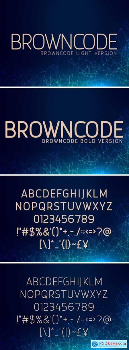 Browncode Light and Bold Font