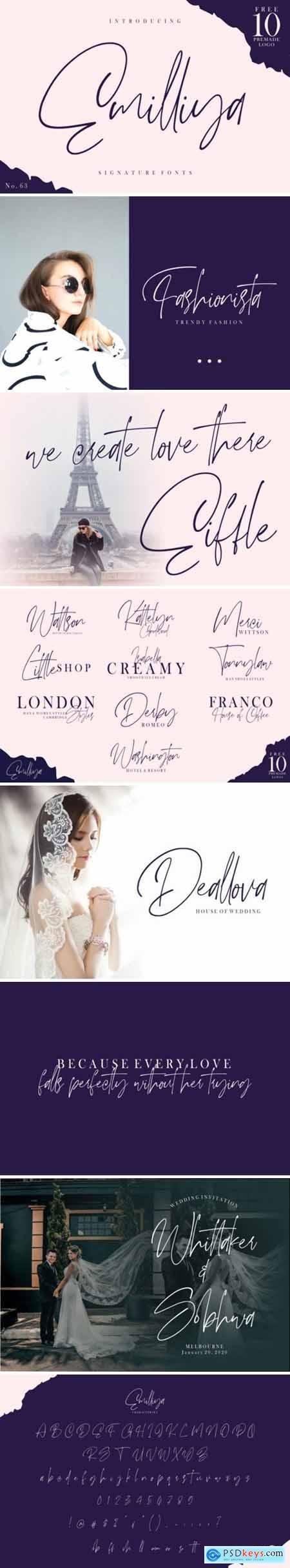 Emilliya - Luxury Signature Font 415795