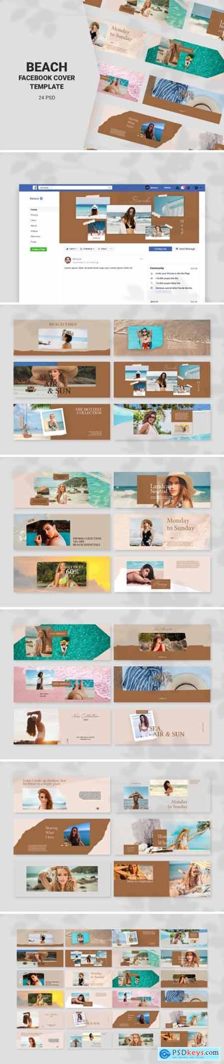 Beach Facebook Cover Templates 2697766