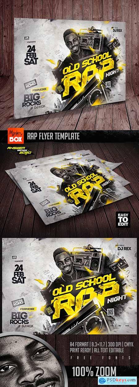 Rap Flyer Template 25600416