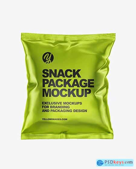 Metallic Snack Package Mockup 55161
