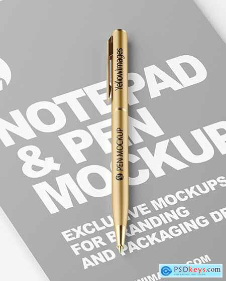 Notepad & Pen Mockup 55066