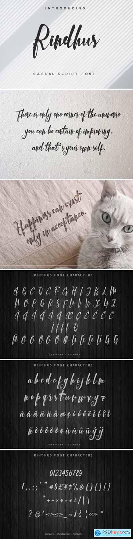 Rindhus Font