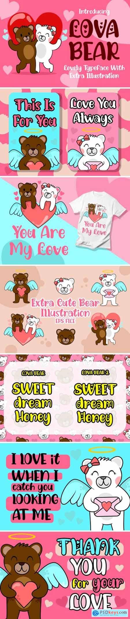 Lova Bear Font