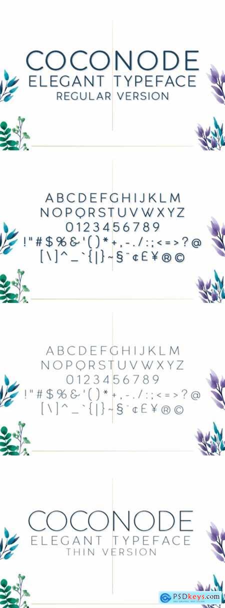 Coconode&Thin Font
