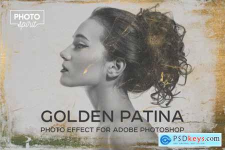Golden Patina Photo Effect 4415297