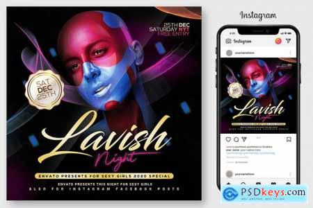 Lavish Night Flyer Template 4519129
