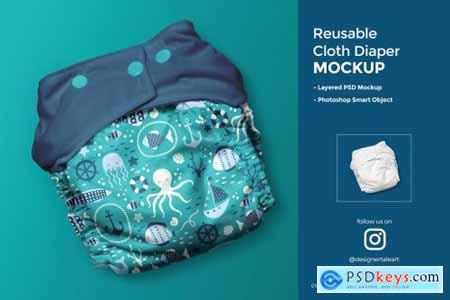 Reusable Cloth Diaper Mockup 4396429