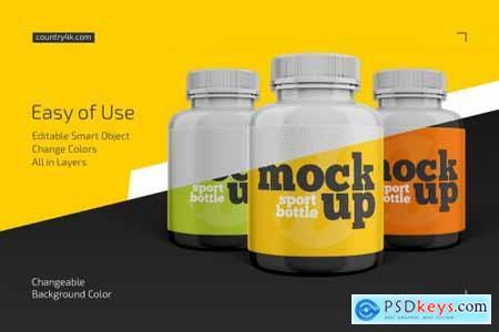 Sport Bottle Mockup Set 4441811