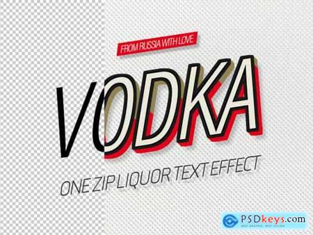 Russian Liquor Text Effect Mockup 320382724