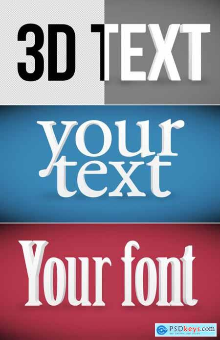 3D Simple White Text Effect Mockup 320384338