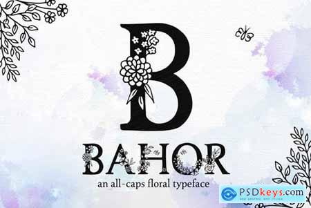 Bahor - Hand Made Floral Typeface 4026561