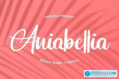 Aniabellia Beauty Script Typeface 4531826