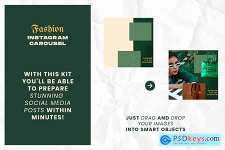 Fashion Green Instagram Carousel